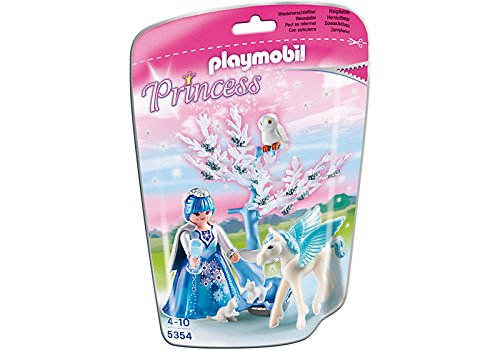 Playmobil - 5354 - Reine des Neiges avec bébé Pegasus Flocon de neige