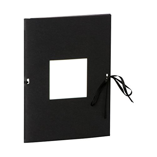 Semikolon (351530) Fotoheft Photo Booklet Portrait black (schwarz) -Fotoalbum mit 20 cremefarbenem Seiten - Mini Foto-Buch im Format: 14 x 19 cm