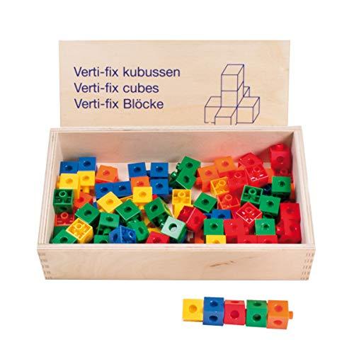 Educo   Verti-fix snap cubes   Lehrmaterialien Technologie & Technik   Mathematik - Geometrie - Räumliche Orientierung   Ab 48 Monate   Bis 96 Monate