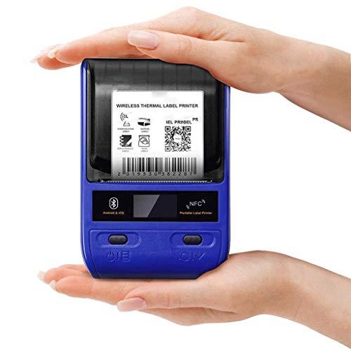 ZZHJYD Recibo Bluetooth inalámbrica de la Impresora térmica, Impresora portátil Impresora Bill Personal de Ventas al por Menor Compatible Restaurante