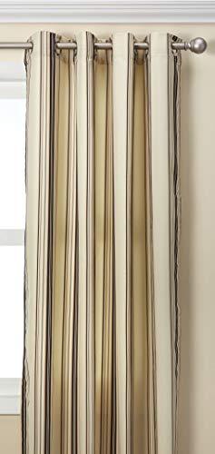 Outdoor Decor Home Fashions extérieur du Commonwealth Dã © Cor Tonnelle d'extérieur Rayures Rideau à œillets Panneau en Kaki Taille : 244 cm H x 127 cm W