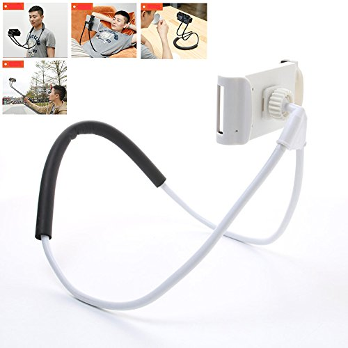 BNTTEAM Universal 360 Rotación Flexible teléfono móvil Tablet Selfie soporte para el cuello Serpiente coche cama montaje para iPad para iPhone para Samsung (soporte para el cuello-1)