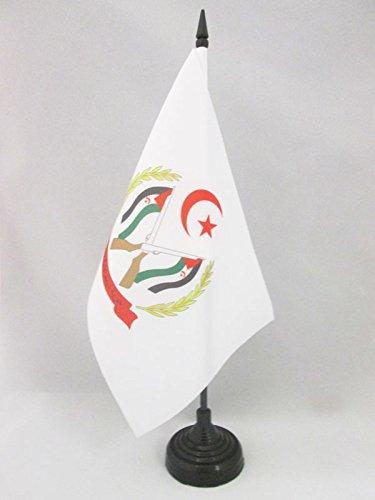 AZ FLAG Bandera de Mesa de Las Armas Frente POLISARIO Sahara Occidental 21x14cm - BANDERINA de DESPACHO SAHARAUI 14 x 21 cm
