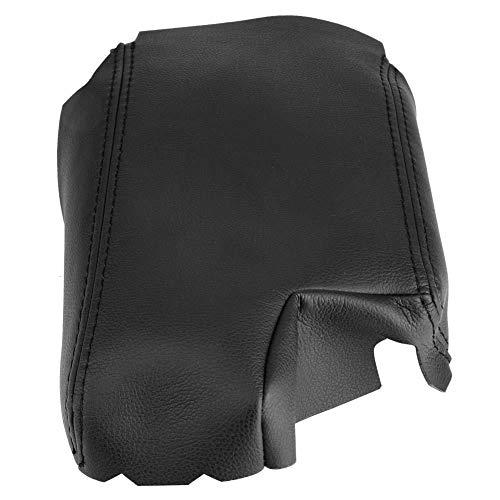 Protector de la cubierta de la caja de los apoyabrazos, cubierta de los reposabrazos de la consola del cuero de la PU del coche conveniente para E46 3 Series 99-06 (Black)