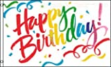 AZ FLAG Flagge Alles Gute ZUM Geburtstag Geburtstag VIELFARBIGER 150x90cm - Happy Birthday Cake Fahne 90 x 150 cm - flaggen Top Qualität