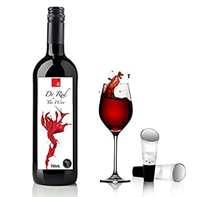 Trovety Wine Aerator Pourer Spout – 2-in-1 Diffuser Oxygenator and Pouring Dispenser for Enhanced Smoother Flavors of Red Wines – Robust Acrylic Plastic and Silicone Rubber Aeration Breather