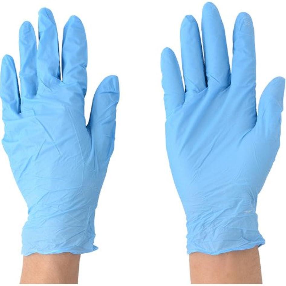 不安定周辺レバー川西工業 ニトリル 極薄手袋 粉付 100枚入 #2043 ブルー SS