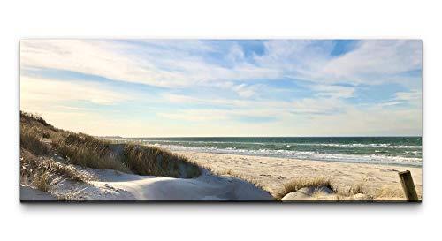 Paul Sinus Art Ivi König Wandbild 100x40cm Strand Ostsee Urlaub Sand Horizont Himmel Natur