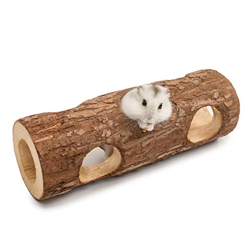 Niteangel Natural Wooden Hamster Mouse Tunnel Tube...