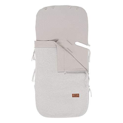 BO Baby's Only - 86x38 cm - 0+ Fußsach Sommer Autositz aus Baumwolle - für 5- und 3-Punkt-Gurten - für Jungen und Mädchen - Silbergrau