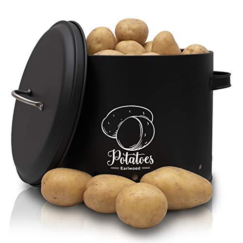 EARLWOOD Premium Kartoffel Aufbewahrung  - Innovativer Kartoffeltopf - hält deine Kartoffeln länger frisch und sorgt für mehr Ordnung in deiner Küche  - Hochwertiges Elegantes Design