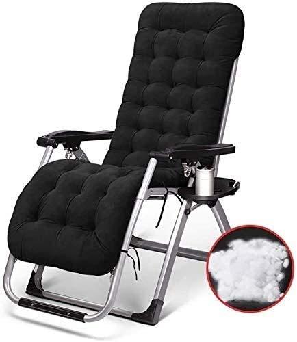 Relax-Liegestuhl Folding Campingstühle in Schwerelosigkeit, dass liegt auf einem tragbaren Campingstuhl geeignet for Gartenstühle, mit 200 kg Unterstützung (Farbe: silberfarbene Wattepad), Farbe Name: