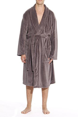 #followme Ultra Soft Plush Robe for Men with Shawl Collar