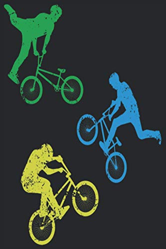 BMX Bicycle: Funny Color BMX Notebook I BMX Bicycle Prints Journal Notepad (A5 6' X 9' lined 120 pages)