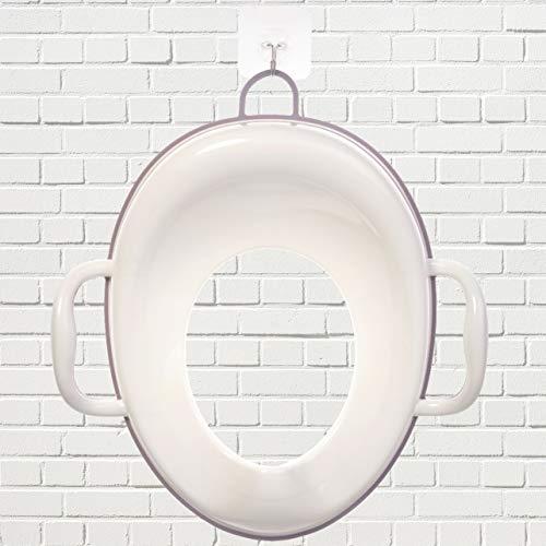 Bisoo - Adaptador WC Niños - Reductor Vater Bebé - Asiento Inodoro Seguro y Cómodo - Transición del orinal infantil al baño adulto - Compacto y Portátil - Incluye gancho (rosa)