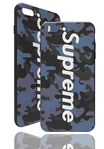 SUP Camo Case [ Kompatibel mit Apple iPhone 7 Plus / 8 Plus, in Blau ] Supreme Hülle im Camouflage Design - Army Tarnmuster - Fühlbares 3D-Motiv
