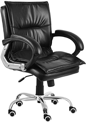 Da URBAN® Miller Medium Back Office/Revolving Chair (Black)