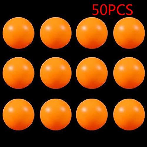 Dergtgh 50pcs 40mm Kinder Ping-Pong-Bälle Kindertraining PE Tischtennisball