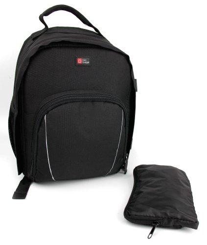 DURAGADGET Sac à Dos Noir Compatible avec appareils Photo Canon EOS 7D Mark II, Samsung NX1 et Nikon D750, D4s, D810, et D750