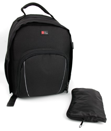 DURAGADGET Large Zaino Nero per reflex digitale (SLR) custodia / borsa / Compatibile con i più grandi modelli SONY e Olympus