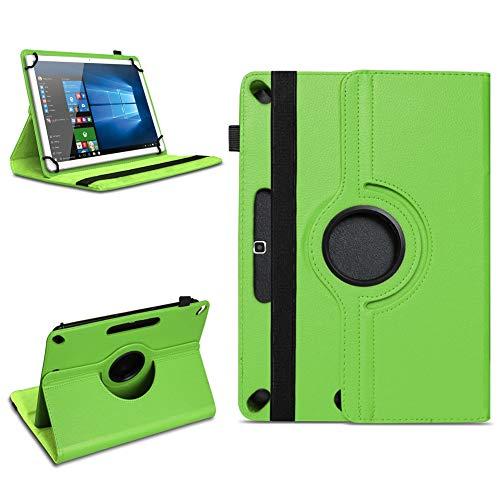 NAUC Acepad A96 Tablet Tasche Schutzhülle hochwertiges Kunstleder Hülle Standfunktion 360° Drehbar Universal Case Cover, Farben:Grün
