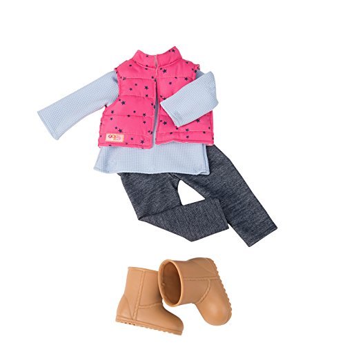 Our Generation 44453 Vest & Jeggings Outfit, 18 inch / 46 cm