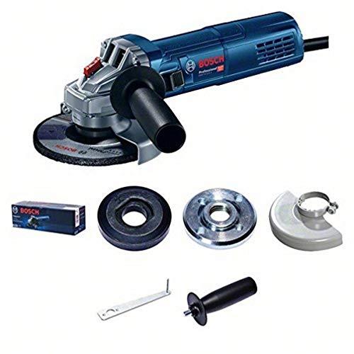 Bosch Professional 0601396103 Smerigliatrice angolare, 900 W, 0 V, Blu, Set di 5 Pezzi