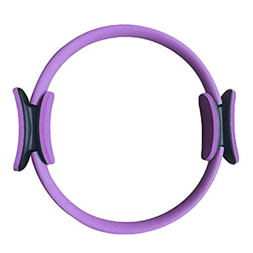 LXYDD Pilates Ring Yoga Ring Widerstand Übung Workout Fitness Gym Yoga Ring 4 Farben Erhältlich,Lila