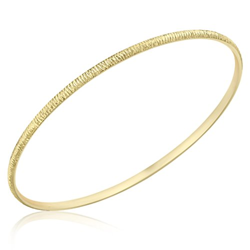 Carissima Gold Unisex-Armreif 9ct Yellow 2.6mm Textured Bangle 375 Gelbgold 6.5 cm-1.35.2745