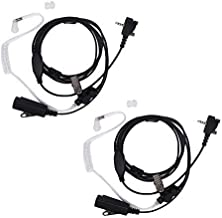 VX-231 Single Wire Earpiece Compatible for Vertex Radio VX-261 VX-264 VX-351 VX-354 VX-451 VX-454 VX-459 EVX-531 EVX-534 VX-160 VX-180 VX-210 VX-410 Acoustic Tube Headset (2 Pack)