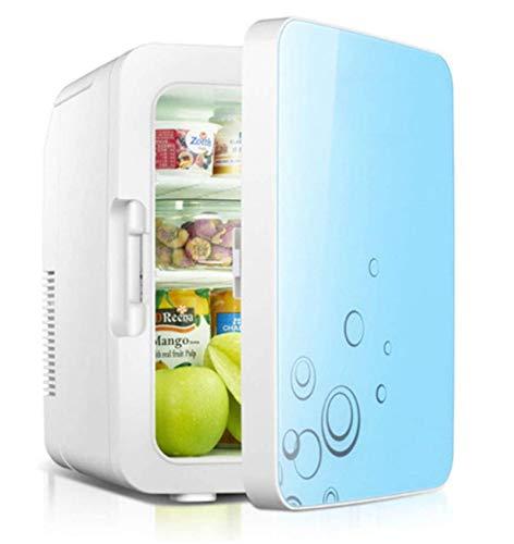 Mini Refrigerador Con Congelador Para Dormitorio, Calentador De Alimentos, Enfriador De Bebidas, Ideal Para Dormitorio Y Espacio De Oficina Pequeño Ac + Dc, Refrigerador Personal Portátil Compacto