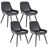 Lestarain 4X Sillas de Comedor Dining Chairs Sillas Tapizadas Paquete de 4 Sillas Cocina Nórdicas...