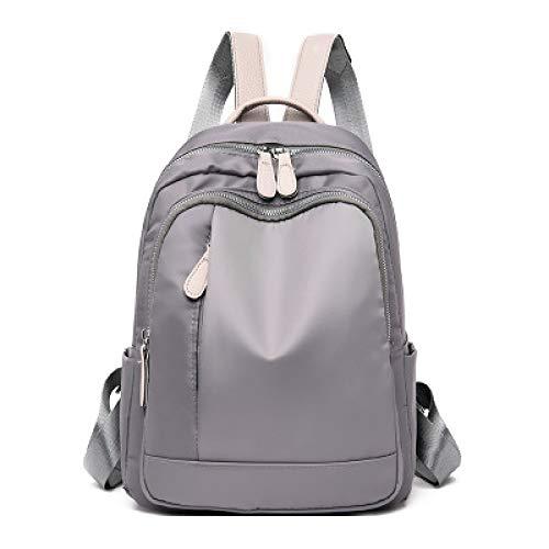 Color sólido Mochila Mujer versión coreana Wearable Wild Bag Oxford Tela Luz Viaje de Gran Capacidad Mochila 3 30 * 23 * 12cm