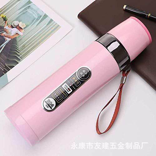 Wensistar BPA-thermosfles, vacuümpomp van roestvrij staal, draagbare beker, drinkfles, drinkfles voor buiten, grote fles met deksel