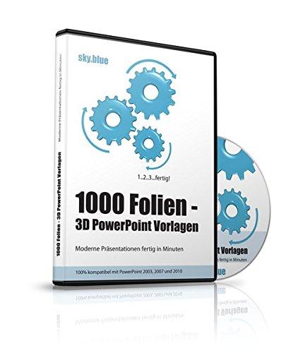 1000 Folien - 3D PowerPoint Vorlagen - Farbe: sky.blue (2017): Moderne Präsentationen für Business, Kommunikation, Marketing, Vertrieb, Verkauf, ... - für Microsoft PowerPoint und Apple Keynote