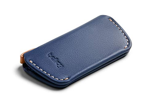 Astuccio portachiavi Bellroy Leather Key Cover Second Edition (max. 4 chiavi) - Marine Blue