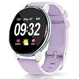 GOKOO Smartwatch Mujer Reloj Inteligente Deporte Monitores de Actividad IP67 Impermeable Fitness Tracker con Monitor de Sueño Pulsómetros Compatible con iOS Android
