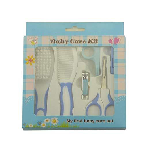 Moeder- en kindbenodigdheden Manicureverzorgingsset Baby Baby Nagelschaartje Kam Borstel Nagelknipper 6-delige set Blauw