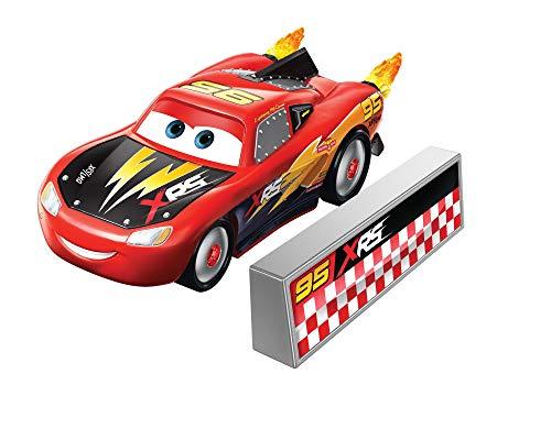 Disney Cars XRS Rocket Racing 1:64 Die Cast Car with Blast Wall: Rust-Eze #95 Lightning McQueen