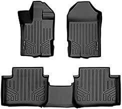 SMARTLINER Custom Floor Mats 2 Row Liner Set Black for Vinyl Flooring 2019-2021 Ford Ranger SuperCab
