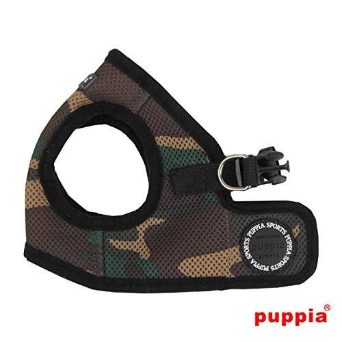 Harnais pour chien Puppia Soft Veste Kaki Camouflage - Kaki, Taille XL