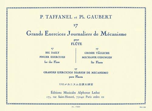 TAFFANEL y GAUBERT - Grandes Ejercicios Diarios de Mecanismo (17) para Flauta
