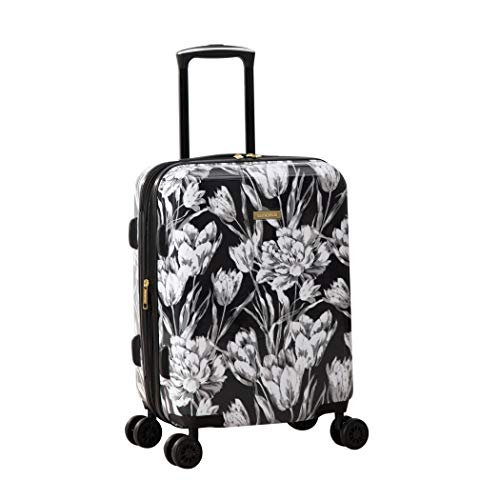 Isaac Mizrahi Irwin 2 8-Wheel, Black White, 22' Hardside Carry-On Spinner Luggage