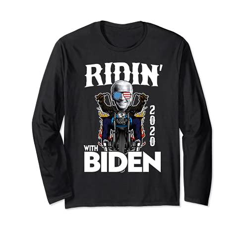 Ridin' With Biden 2020 Cool Biker Joe USA Gafas de sol Manga Larga