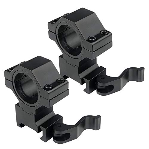 KEENZO 2 Pcs Scope Rings, High Profile 1 Inch 25.4mm/30mm Quick Release...