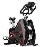 ZJDU Spin Bike,Bicicleta De Ciclismo Indoor Bicicleta Estacionaria con Volante Todo Incluido,con Resistencia para Gym Home Cardio Workout Machine Training Nueva Versión,Black