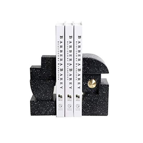 JKXWX Sujetalibros Oficina del Soporte del Escritorio del sujetalibros Libro, mobiliario Creativo sujetalibros sujetalibros Resina Vino Retro despacho de casa, 15.5 * 7.5 * 18cm Tapones para Libros