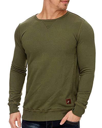 BLZ Jeans Sweatshirt, Molton, Rundhalsausschnitt, Khaki Gr. Medium, grün