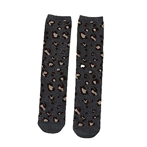 Moda Leopardo Boys Girls Socks Algodón Soft Kids Knee High Socks Winter Pierna Calentadores Niños Calcetines Largos (Color : Style1 Grey 2-10Y)