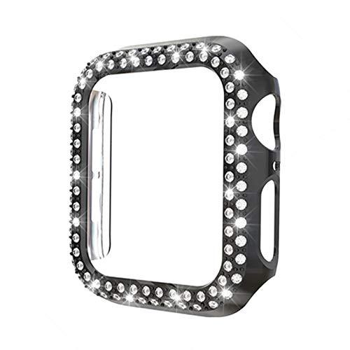 Bling 40mm 44mm 38mm 42mm Caja de reloj para Apple Watch Series 6 SE 5 4 3 2 1 Cubierta PC Diamond Bumper para iWatch Accesorios